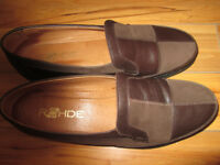 Ladies Rohde Brown Flat Shoes (size 8 Broad fitting)
