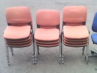 stacking chairs x 10
