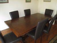 Dining Table, Oak and Oak veneer.