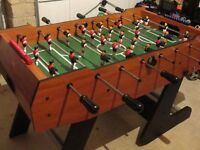 BCE Folding Soccer Table. Good condition table football including spare footballs.