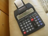 CASIO PRINTING CASH CALCULATOR. MODEL HR-150TEC. 12 DIGIT. EURO & TAX. LIKE NEW.