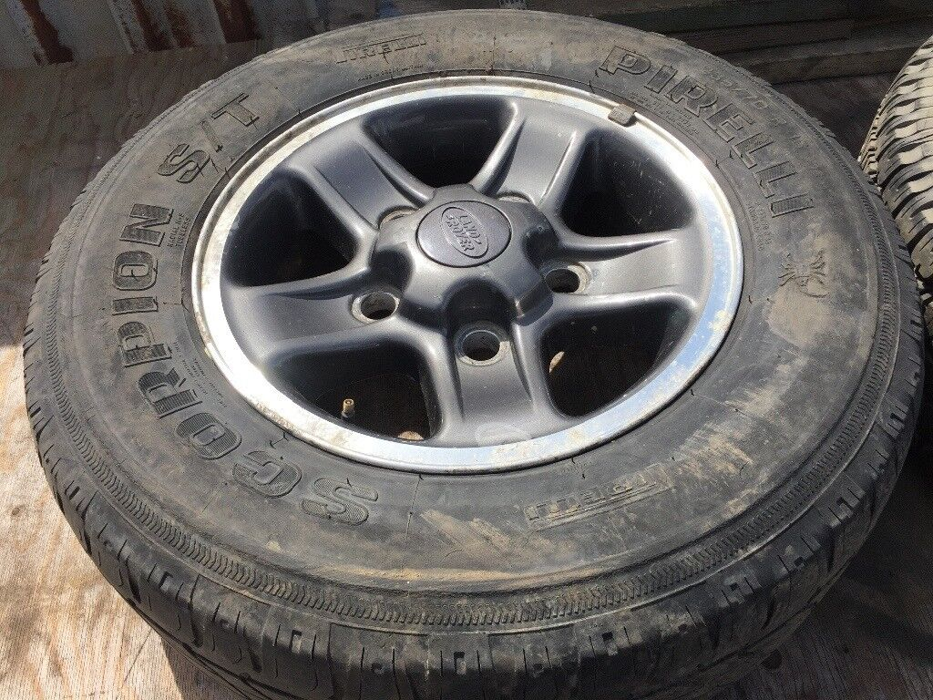 1 x landrover defender / discovery boost alloy wheel and tyre