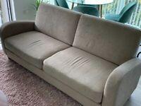 3 seat Sofa - Like New (Beige)