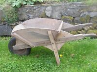 antique wooden wheel barrow for sale