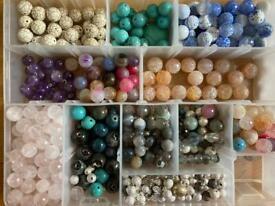 Semi precious beads for jewellery making - rose quartz, agate, amethyst,