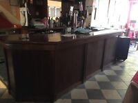 Commercial wooden bar