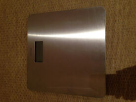 Salter Bathroom Scales in Brushed Silver Stainless Steel