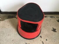 red kick stool