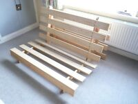 """Double Futon in Immaculate Condition; Pine """"A Frame"""" Used Once Only."""