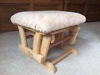 Gliding footstool for rocking chair