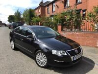 VOLKAWAGEN PASSAT 2.0 TDI CR HIGHLINE 58 REG (140BHP) BLACK 4 DOOR LEATHER 1 OWNER FSH