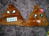 Emoji poo cushions, girls and boys