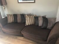 Dfs swivel chair and 3 seater sofa