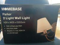 2 light wall light