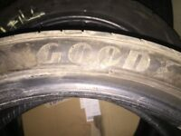 Goodyear F1 225/40/18 with 6mm tread