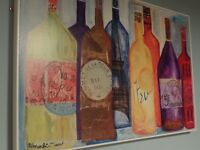 Kitchen Art Picture Bottles