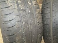 205 55 16 MICHELIN TYRES X 2 (PAIR) 5.5-6,5MM