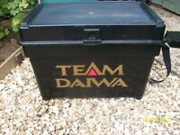 Large Daiwa Fishing Tackle Box Seat With Removable Trays