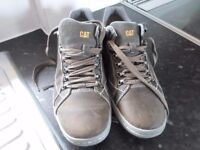 Caterpillar Apa Leather Muddy Lace Up Walking Casual Trainers