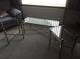 M&S glass topped coffee tables