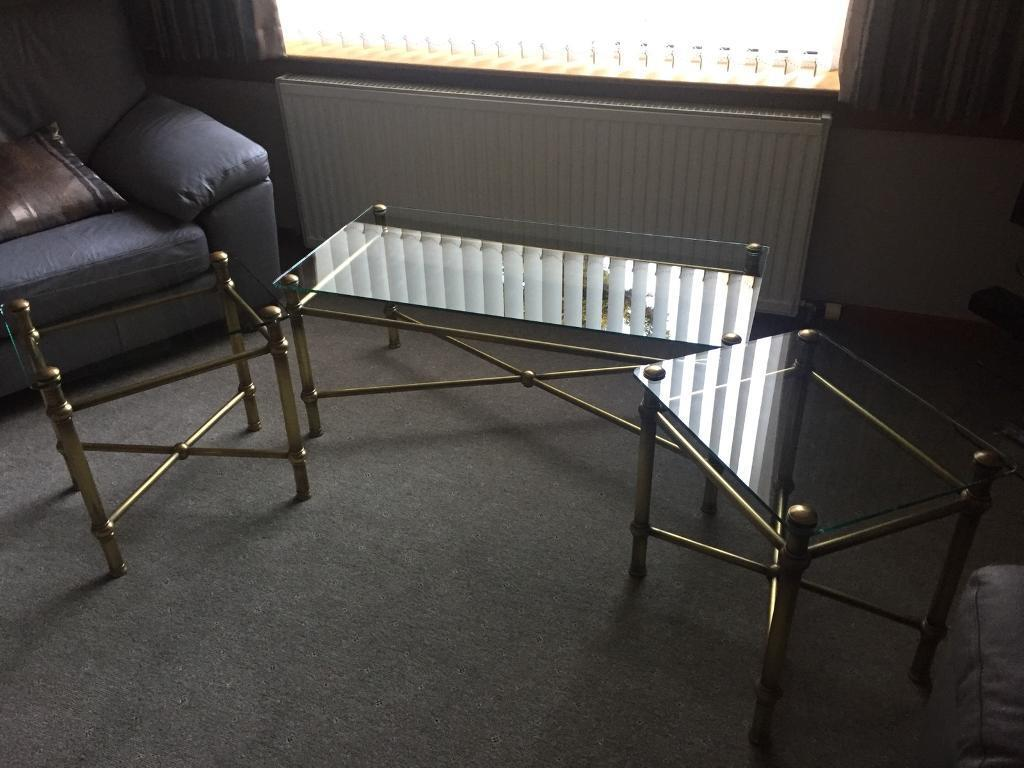 Ms glass topped coffee tables in bearsden glasgow gumtree ms glass topped coffee tables geotapseo Image collections