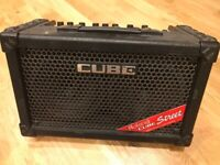 Roland Cube Street Amp (used only once) - w/ dolly for transport