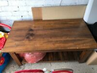 Dark wood coffe table