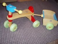 Wooden trike and trailer from ELC - suitable for 12months to 3 years