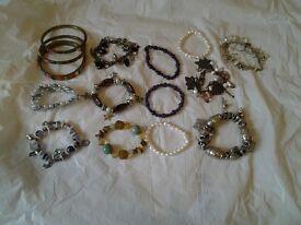 13 assorted bracelets