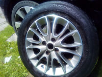 Fiat Punto GBT/Evo Alloy Wheel and Tyre 185x65x15 - Collection from LL33