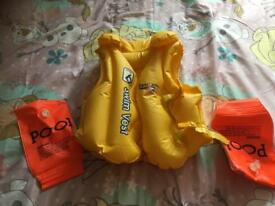 Baby Life Jacket and Arm Bands all for £4
