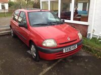 1999 Renault Clio 1.2 Petrol. Starts and drives spot on, PAS. MOT December, PAS, £325 ono