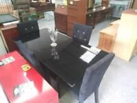 Black diamonte chairs