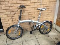 BICYCLE 4U FOLDING BIKE IN VERY GOOD RIDING CONDITION LIGHT WEIGHT RIDE AWAY