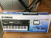 Yamaha EZ-220 Portable Keyboard with 61 Full-Size Lighted/Touch-Sensitive Keys/iPad Connectivity