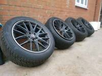 """20"""" 5x120 VW BMW ALLOY WHEELS AND TYRES"""