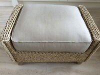 Footstool Rattan (Suitable for conservatory)