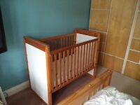 Baby Cot, free for collection good clean condition, 1.23 m long, 650mm & 1.2m high.