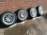 "15"" 4x100 & 4x114.3 Calibre alloy wheels with very good tyres"