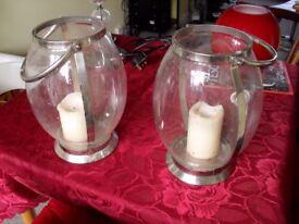 2 x Small Lanterns (Excellent Condition) = Bargain Price