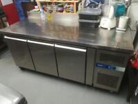 Prodis stainless fridge cabinet. 3 doors