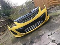 Corsa D limited edition yellow Front Bumper compelete
