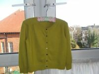 Boden cropped fifties cashmere cardigan size 8 - 10