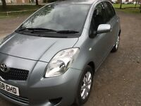 Toyota Yaris,2008.,5door, Petrol, Hatchback Silver Colour.Mileage,87000. First Registered 26/11/2008