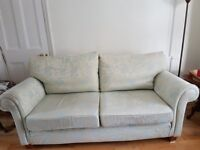 Multiyork Sofa for sale Floral Duck Egg Blue Fabric Excellent Condition Collection Only