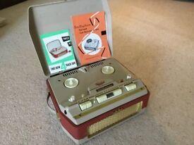 Retro reel to reel tape recorder