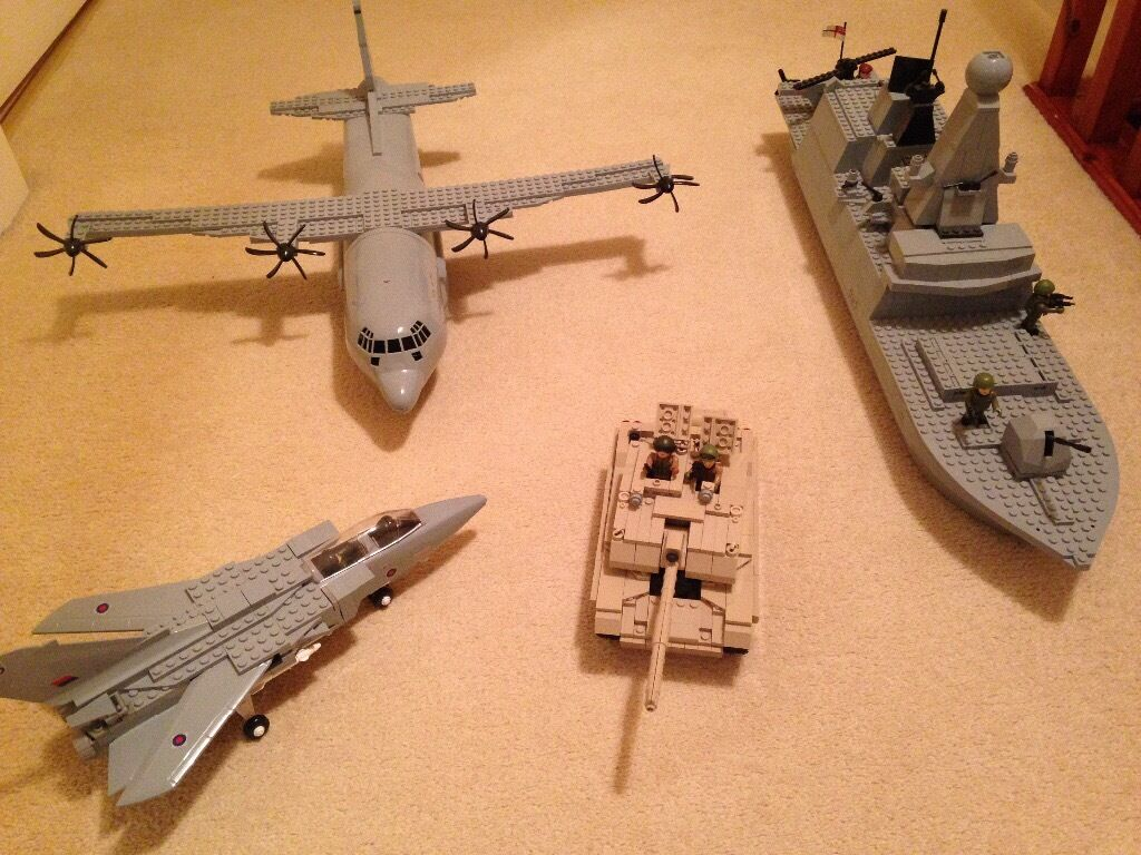 H.M ARMED FORCES PLANE X 2, SHIP AND TANK