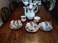 Royal Albert Old Country Rose Coffee Set English