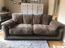 OPEN TO OFFERS DFS Brown sofa £140 or nearest offer