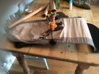 Babybjorn bouncy chair with toy bar